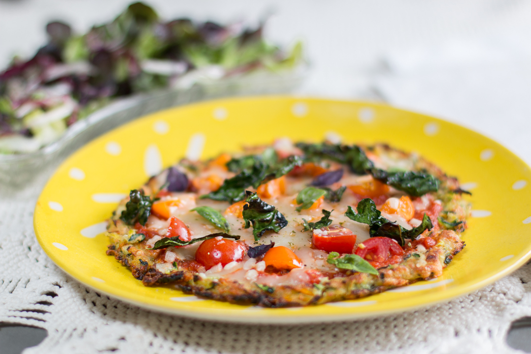 On the Grill: Zucchini Crusted Pizza