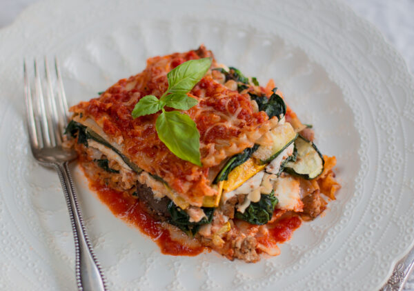 Free Form Veggie and Turkey Lasagne