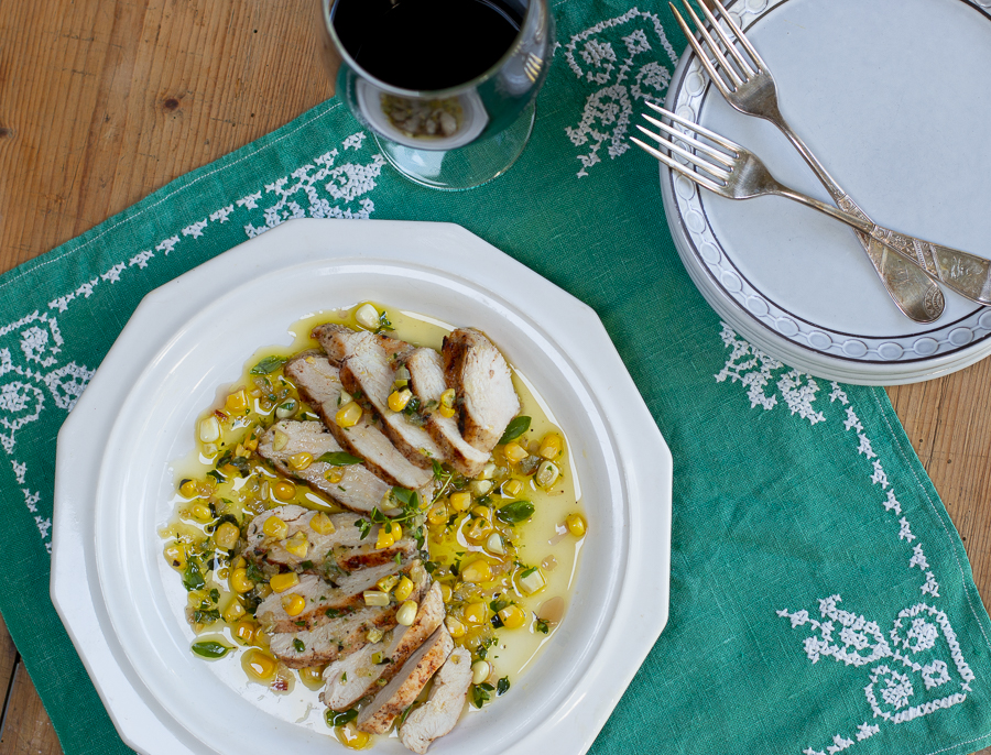 Mediterranean EVOO Herb & Corn Sauce for Chicken and Fish
