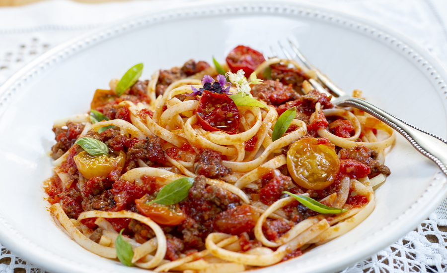 "Ground Turkey ""Meat Sauce"" with Fresh Tomato Sauce"