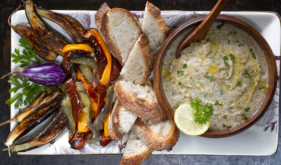 Baba Ganoush with Roasted Peppers
