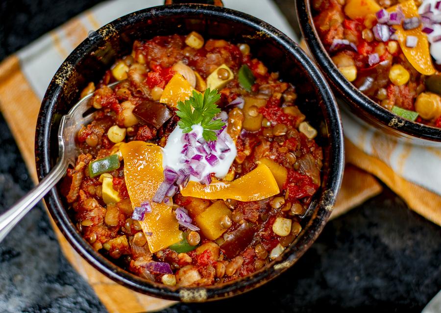 Amazing Veggie Chili Without Beans