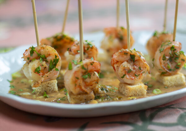 Skewered Shrimp Scampi Appetizer