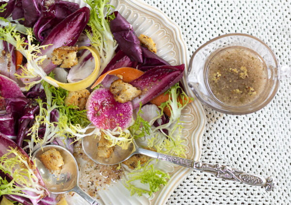 Karen's Grainy Mustard Vinaigrette with Shallots and Garlic