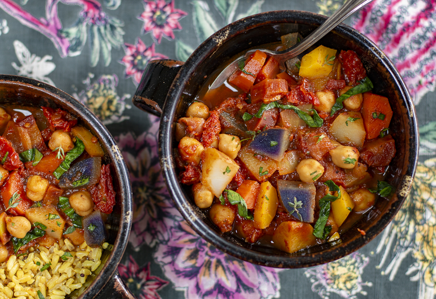 Mediterranean Chickpea Stew with Pantry Ingredients
