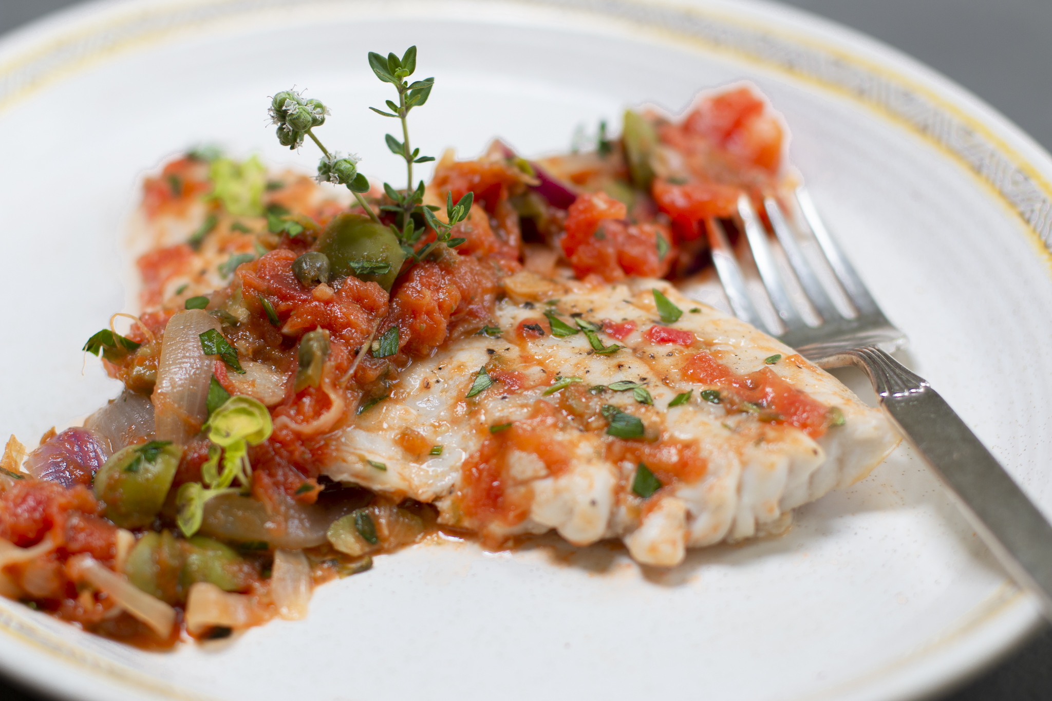 Karen's Veracruz-Style Snapper with Fresh Garden Tomatoes