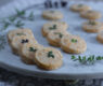 "Cheddar and Herb ""Pennies"" ~ Savory Shortbread Crackers"