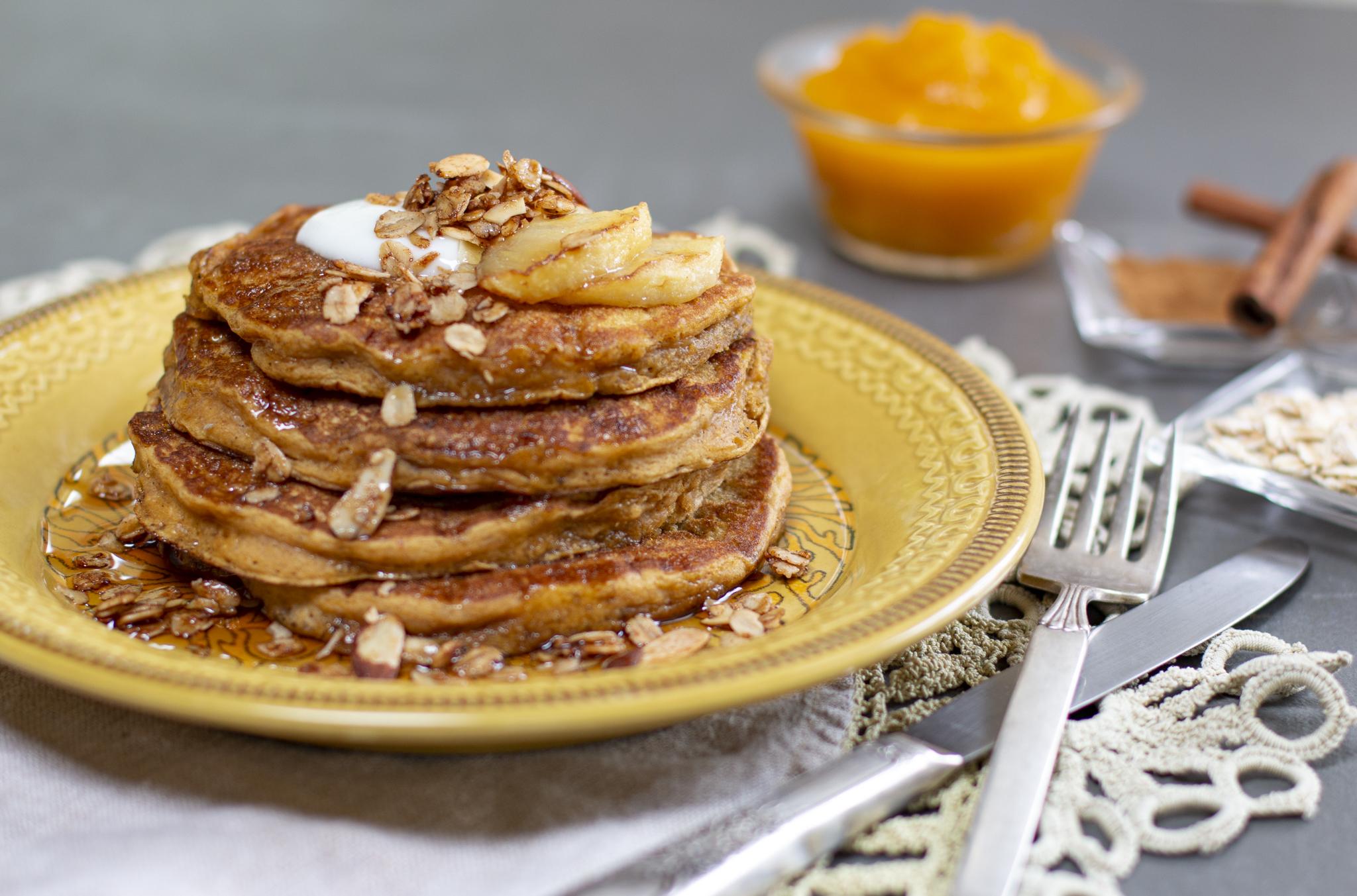 Yummy Pumpkin & Oatmeal Pancakes