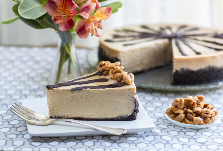 Creative & Impressive Thanksgiving Desserts: Plus NEW: Lightened-Up Peanut Butter Cheesecake  with Chocolate Biscotti Crust and Honey Peanuts