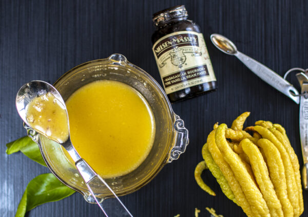 A zesty vinaigrette with citrus juices and finished with the floral notes of vanilla bean