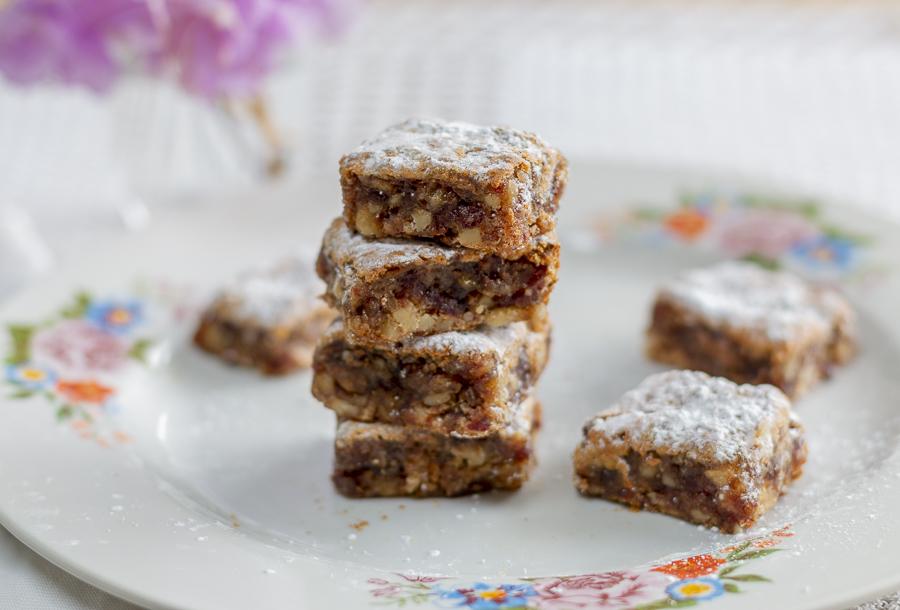 Delicious Date & Walnut Bars ~ Gluten Free