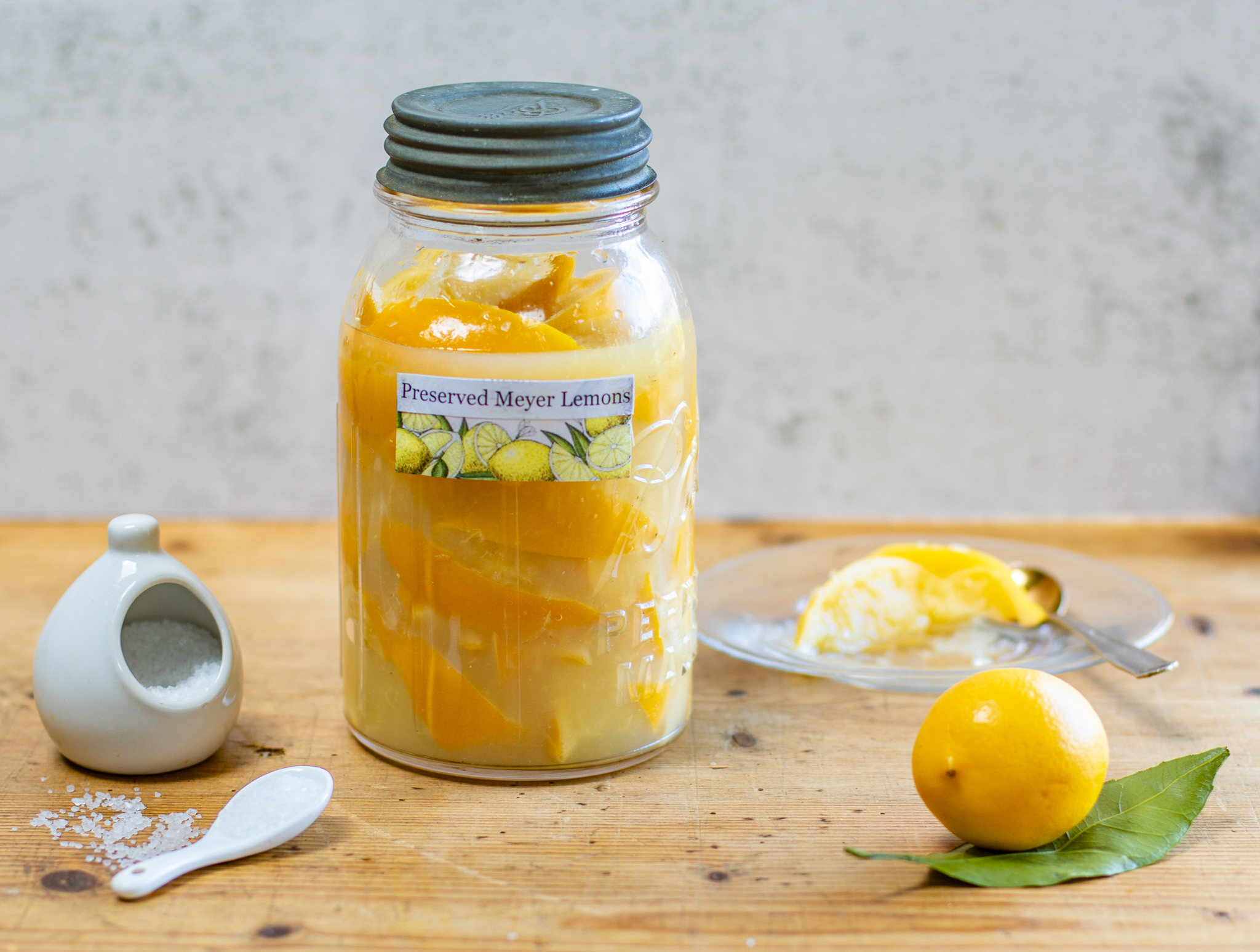 Preserved lemons in a vintage ball Jar - a speedy recipe