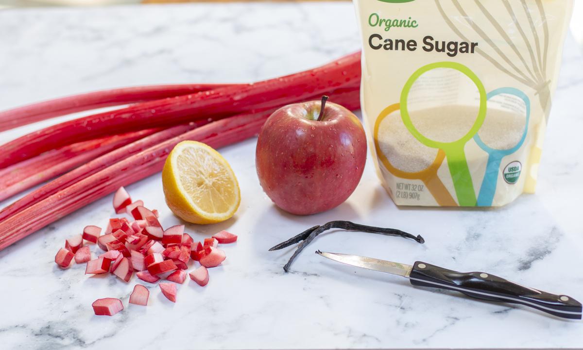 Simple ingredients for Rhubarb Vanilla Bean Jam