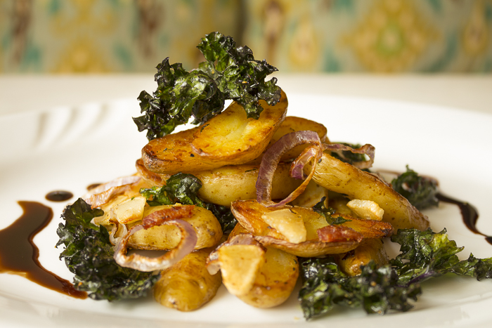 Fingerling Potatoes and Crispy Kale in Foil Packets