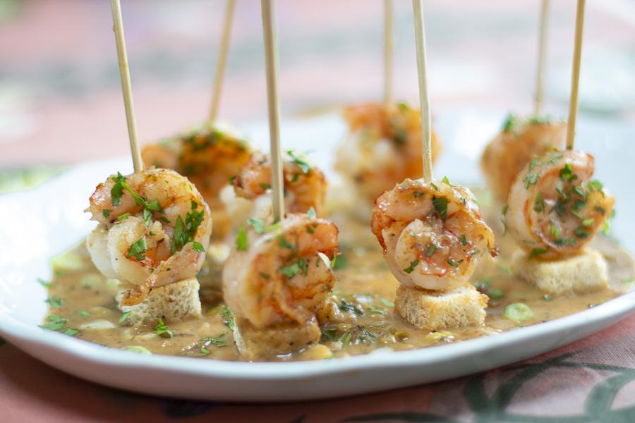 Skewered Shrimp Scampi Appetizer