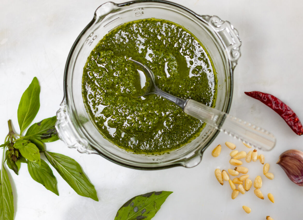 Thai Basil Pesto – and what to do with it!