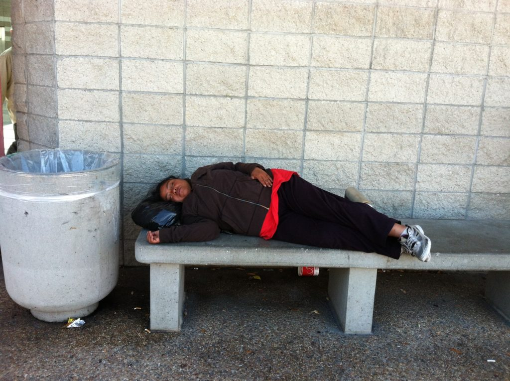 Sleeping at BART