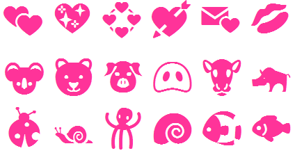Cute Emoticons Emoji list