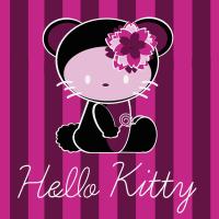 Dark Hello Kitty Seamless Pattern Set