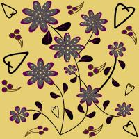 Purple Tan Seamless Pattern Set