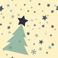 Blu Christmas Seamless Pattern Set