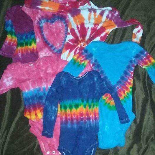 Tie Dye Baby Onsies Long Sleeve Body Suits