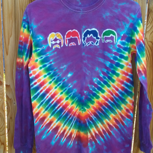 Medium Nowhere Man Batik Tie Dye Long Sleeve ⋆ Violablu's Tie Dyes