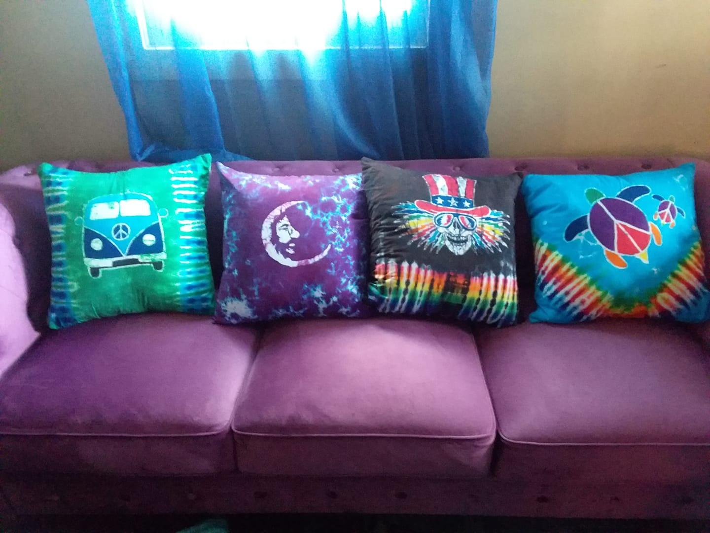 Tie Dye  Throw Pillows