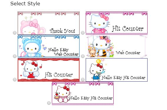 Hello Kitty Web Page Counters