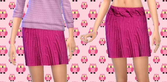 Pink Sweater Skirt