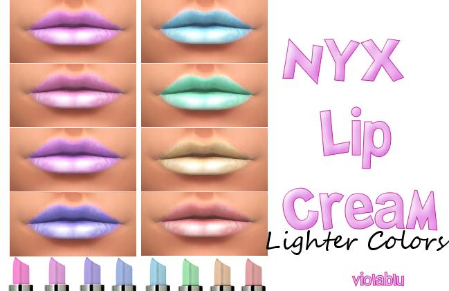 Lighter NYX Lip Creams in 8 colors