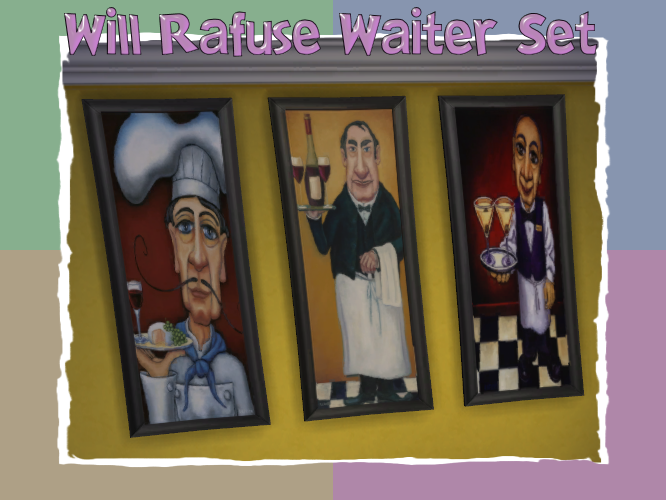 Will Rafuse Waiter Set of Three