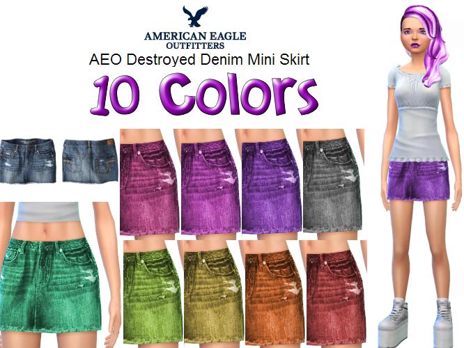 AEO Destroyed Denim Mini in 10 new colors