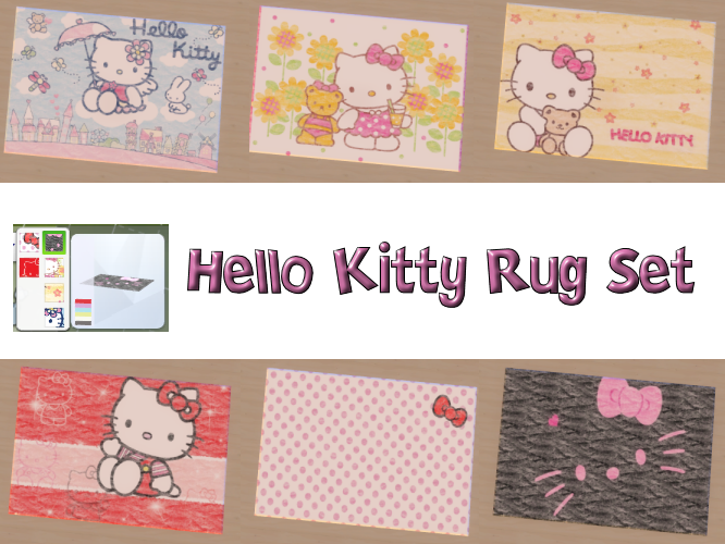 Hello Kitty Rug Set of 6