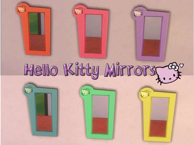 Hello Kitty Mirror Set 6 colors