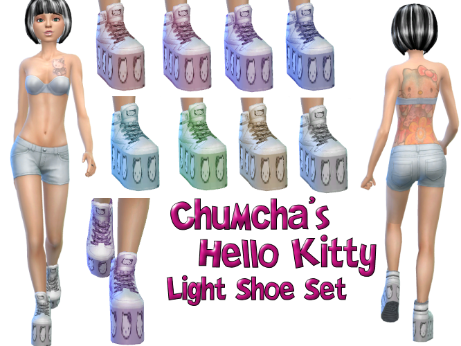 Chumcha's Hello Kitty Shoes in 8 Light colors