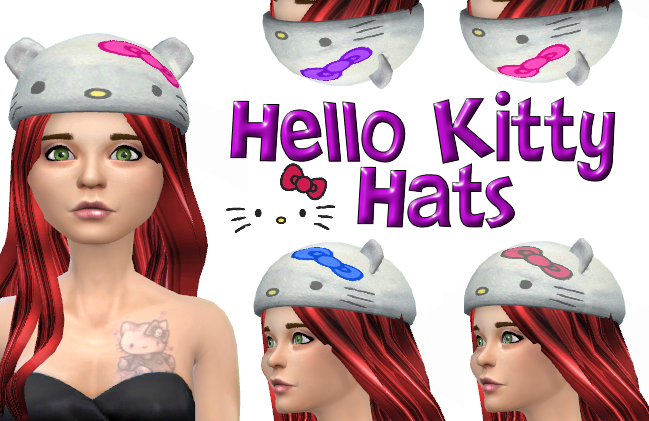 Hello Kitty Hats in 4 colors