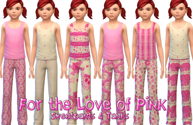 For the Love of Pink Sweatpants & Tank Top Mix & Match Collection for Girls