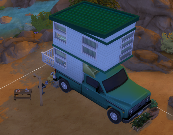 Camper Tiny House for Sims 4