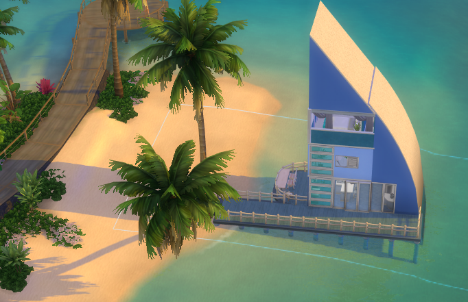 Sail's End Tiny House for Sims 4