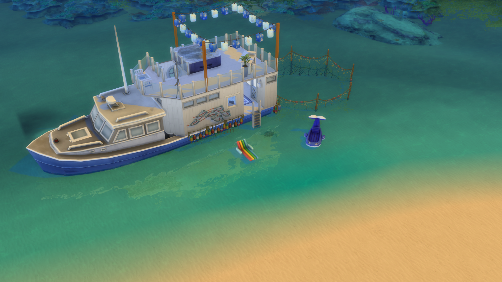 Sims 4 Blu House Boat