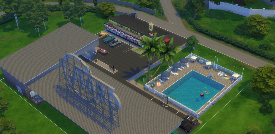 Motel 6 and Waffle House Sims 4