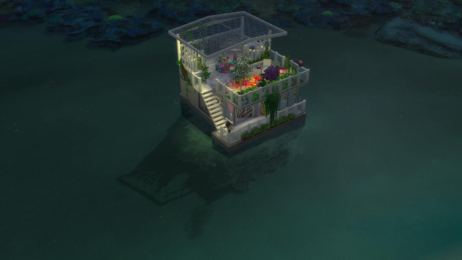 Garden House Boat for Sims 4