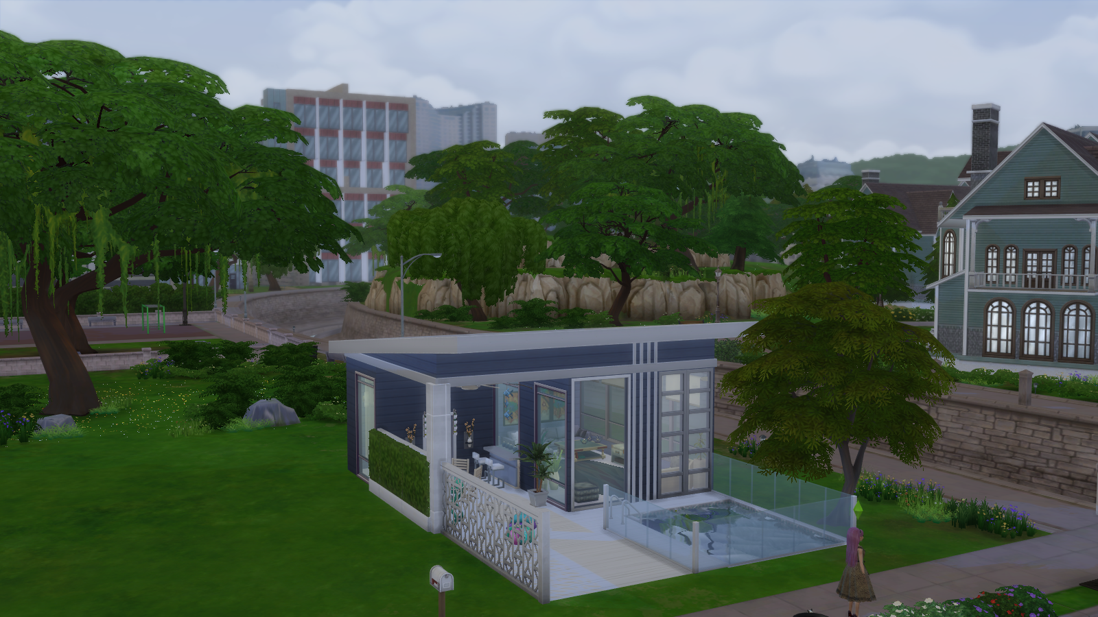 Blu a house for Sims 4