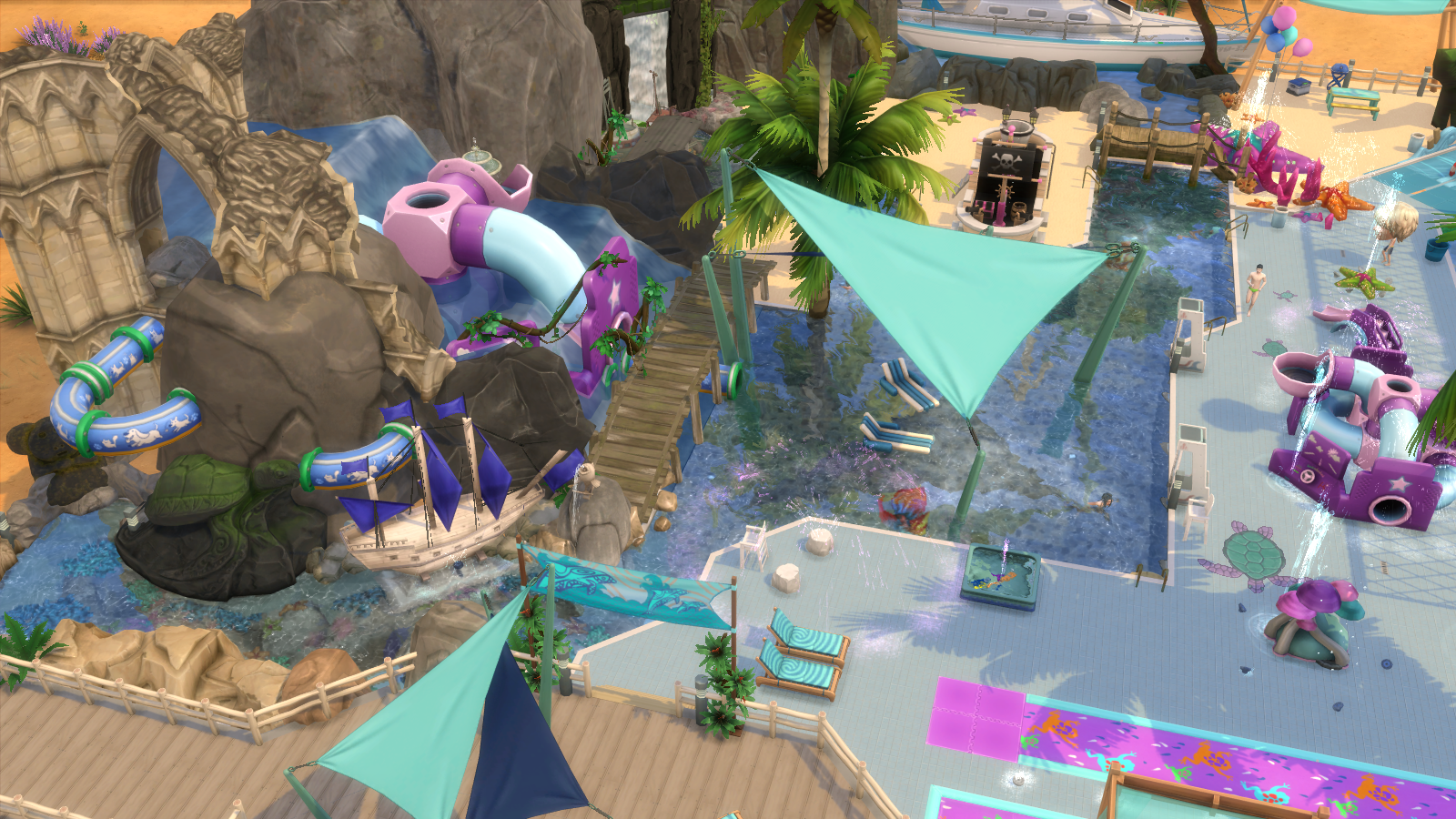 Lagoon Water Park for Sims 4