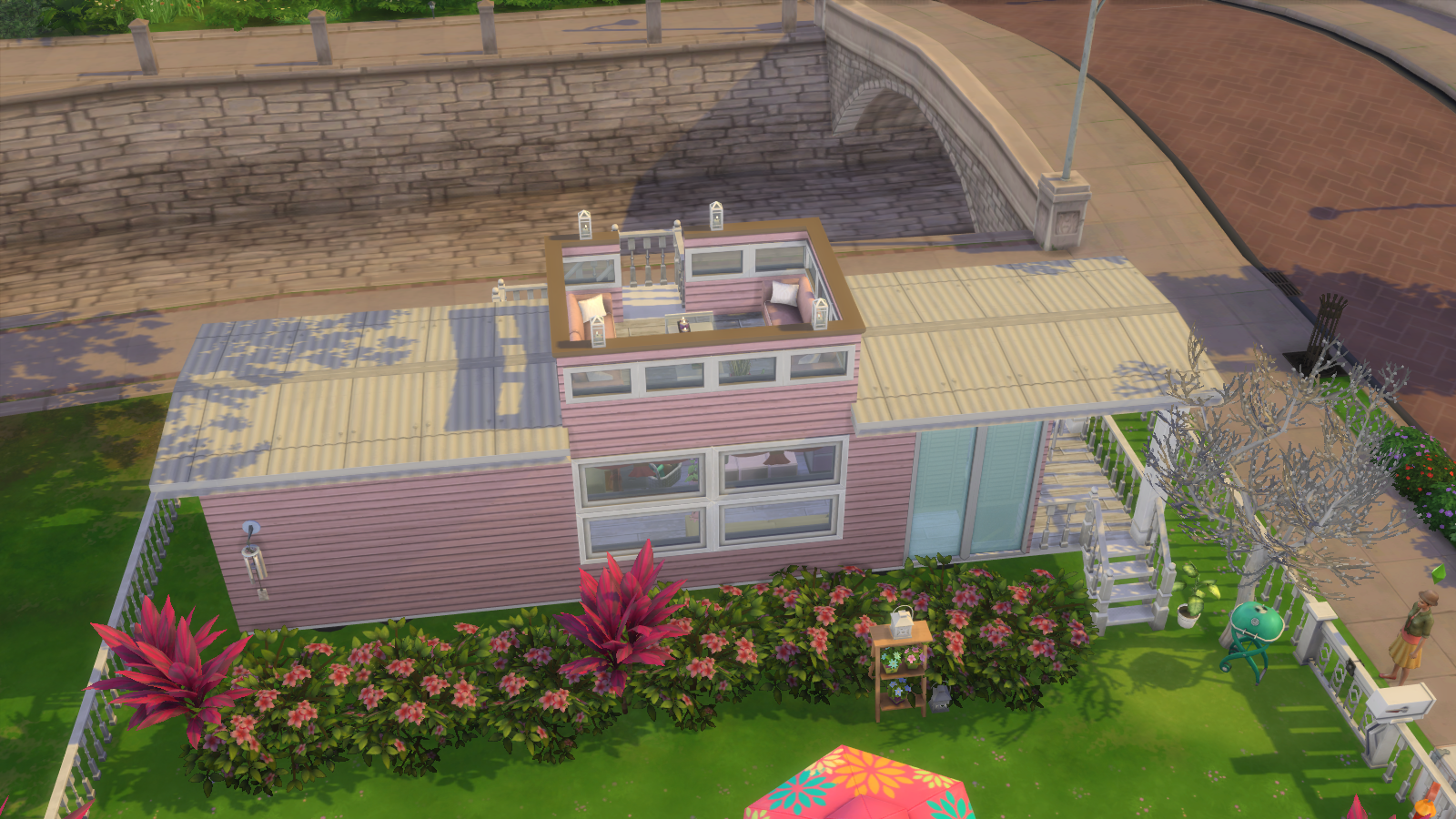 Pink Caboose House for Sims 4