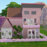 Pink & Purple Shell Challenge House for Sims 4