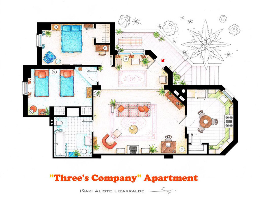 Three's Company Apartment for Sims 4