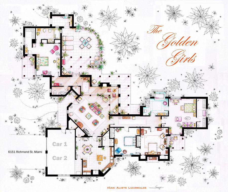 Golden Girls House for Sims 4 Realistic Realty
