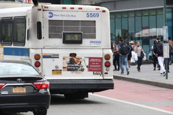 Preston High School Bus Taillight Advertising